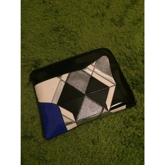 3.1 Phillip Lim Black Blue White Silver Clutch