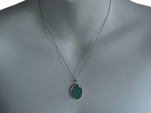 Sterling Silver Jade Necklace