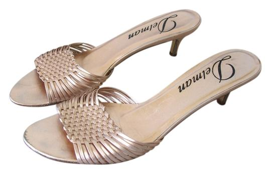 Delman Metallic Low Heel Low-heel Slide peach Sandals