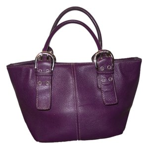 Tignanello Leather Satchel in purple