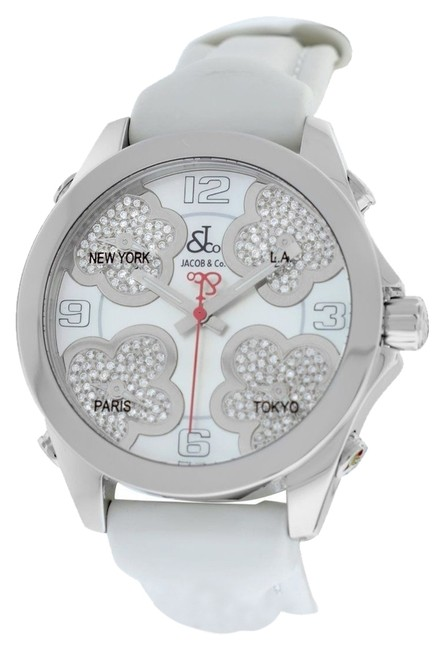 Jacob & Co. Stainless Steel Five Time Zone Jcmath12 Mop Diamond 40mm. Watch Jacob & Co. Stainless Steel Five Time Zone Jcmath12 Mop Diamond 40mm. Watch Image 1