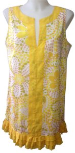 J.Crew short dress Yellow/Multi on Tradesy