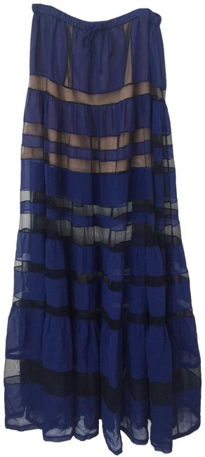 Item - Blue Runway Silk Skirt Size 2 (XS, 26)