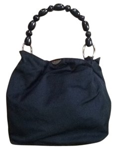 Dior Small Vela Beaded Handle Tote in Black
