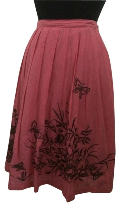 Fresh Twist Skirt Coral and brown