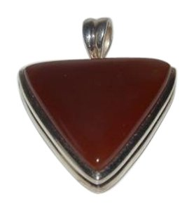 Big and Bold Sterling Silver Carnelian Gemstone Pendant with Wide Bail