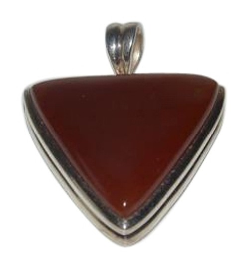 Other Big and Bold Sterling Silver Carnelian Gemstone Pendant with Wide Bail
