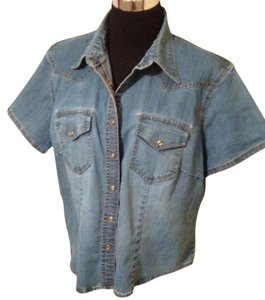 Carolina Blues Button Down Shirt BLUE DENIM