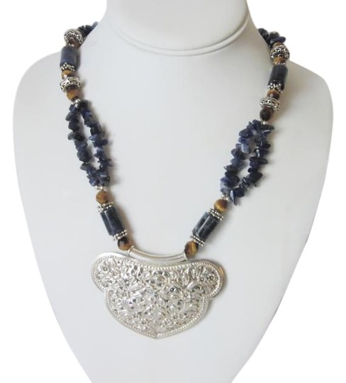 Preload https://item3.tradesy.com/images/925-sterling-silver-artisan-crafted-lapis-gemstone-inch-necklace-4249372-0-2.jpg?width=440&height=440