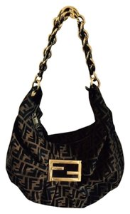 Fendi Zucca Mia Mint Condition Brown Hobo Bag