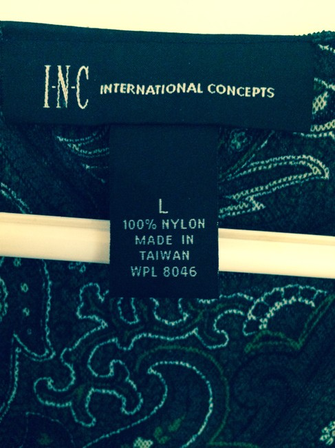 INC International Concepts Top Dark green