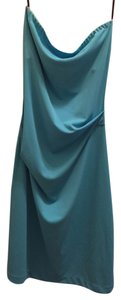 Nicole Miller Blue Strapless Dress