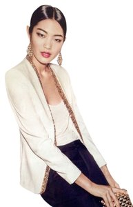 H&M Sequined Natural White Suit Jacket