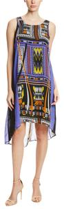 Mlle Gabrielle short dress Multi-Colored Sleeveless Graphic Print Maxi Shift Multi Print on Tradesy