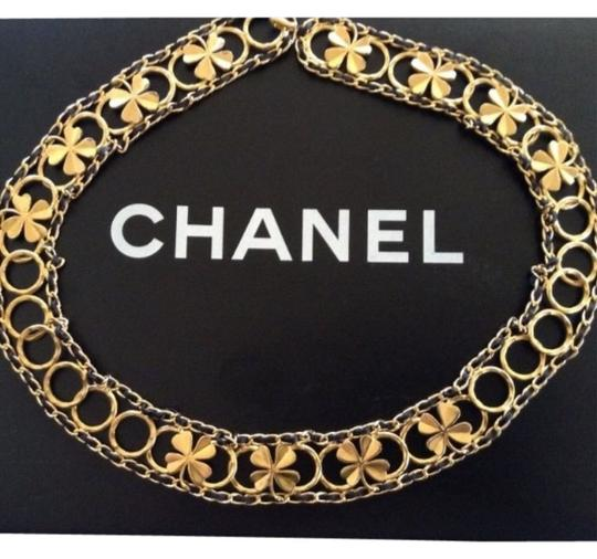 Preload https://item5.tradesy.com/images/chanel-gold-rare-vintage-96a-plated-black-leather-clover-belt-4251274-0-0.jpg?width=440&height=440