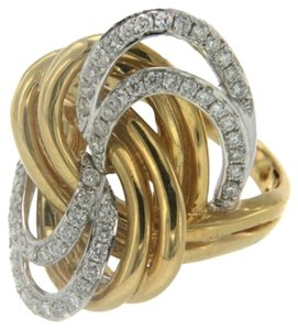 BRAND NEW, 18K Yellow Gold Diamond Right Hand Ring