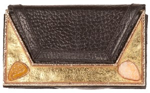 Cleobella Evening Black and gold Clutch