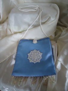 Periwinkle Blue and Satin White