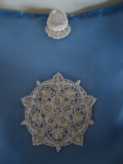 """Periwinkle Blue and Satin White """" Something Dollar Dance Bag ~ Quality Made Reception Decoration"""