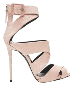 Giuseppe Zanotti Rare Sold Out Peep Toe Plush Pink Sandals