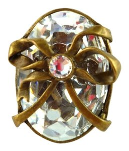 Dior Authentic Christian Dior Vintage Crystal with Bow MASSIVE Statement Ring RARE COLLECTIBLE