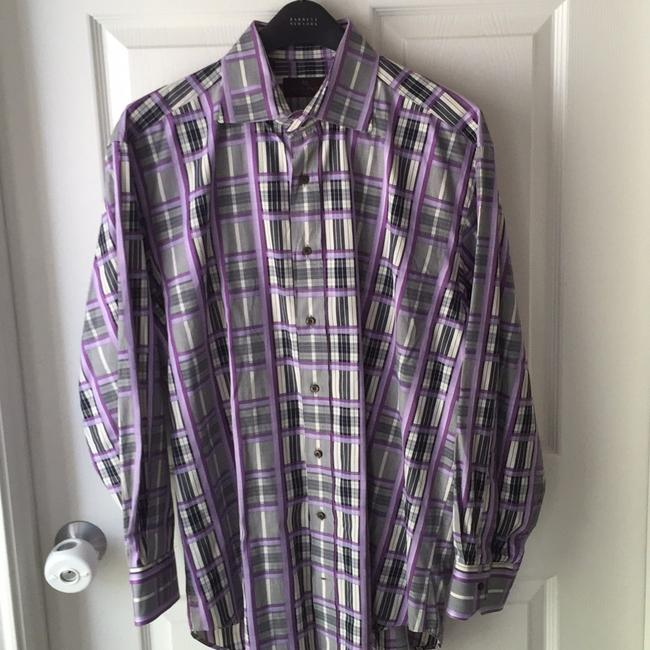 Item - Multi--violet/Purple Gray Black Off White Shirt