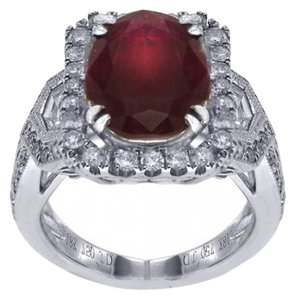 BRAND NEW, 18K Women's White Gold Ruby and Diamond Ring
