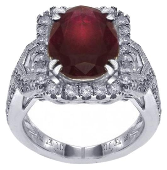 Other BRAND NEW, 18K Women's White Gold Ruby and Diamond Ring