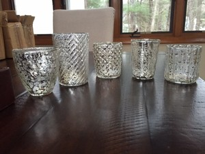 Bric A Brac Mercury Glass Votives - Silver (47)