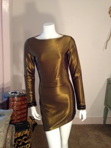 One Teaspoon Gold Cocktail Dress