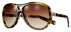 Reed Krakoff Reed Krakoff Designer Oversized Sunglasses with Case, Cloth & Card (Brown spotty tortoise/Gold/Aviator)