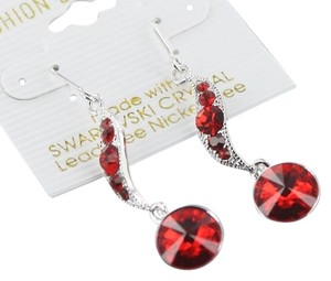 Swarovski Genuine Swarovski Crtstal Red Drop Earrings