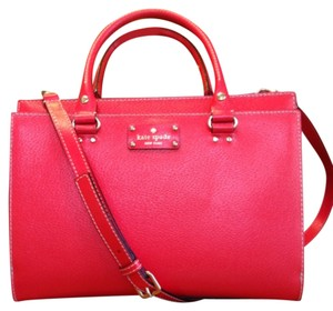 Kate Spade Satchel in Lacquerred/red orange
