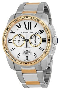 Cartier Calibre de Cartier W7100042 Silver Dial, Steel and 18kt Rose Gold Automatic Men's Watch (new)