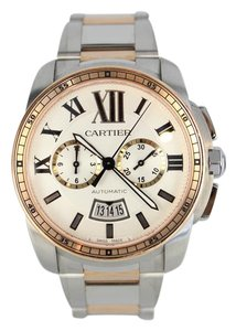 Cartier Calibre Cartier Silver Dial Steel and Rose Gold Automatic W7100042
