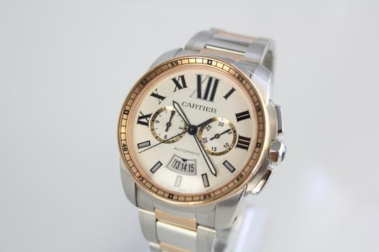 Cartier Calibre Cartier Silver Dial Steel and Rose Gold Automatic