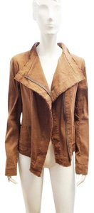 Donna Karan New Asymmetric Brown Jacket