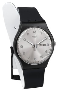 Swatch Swatch SUOB717 Men's Black Analog Watch With Silver Dial