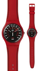 Swatch Swatch SUOR104 Unisex Red Analog Watch with black Dial