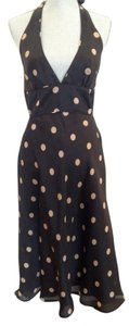 J.Crew Halter V-neck Silk Dot Dress