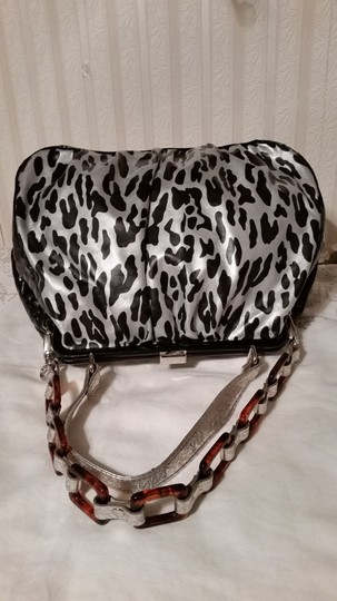 Betseyville Satchel in Gray leopard