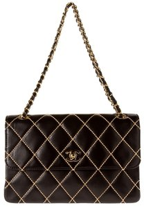 ee40c136569f5c Added to Shopping Bag. Chanel 2.55 Quilted Lambskin Classic Shoulder Bag. Chanel  Surpique Black Lambskin Leather ...