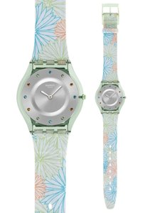 Swatch Swatch SFG105 Women's Transparent Analog watch With Silver Dial
