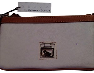 Dooney & Bourke Wristlet in White/tan