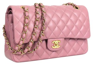 Chanel Purple Quilted Lambskin Shoulder Bag