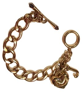 Juicy Couture Juicy Couture Gold Starter Charm Bracelet