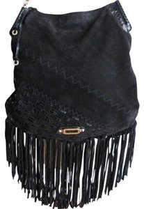 Jimmy Choo Snakeskin Suede Fringe Shoulder Bag