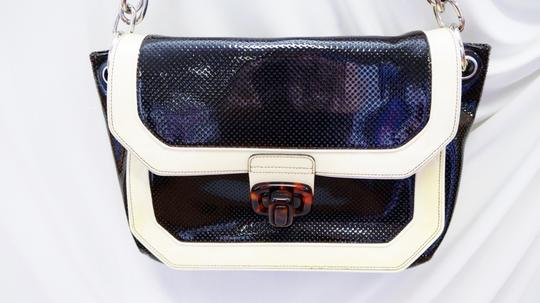 Lanvin Miami Mm Patent Black Shoulder Bag
