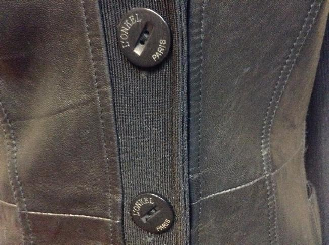 L'onkel Paris Vintage Leather Black Jacket
