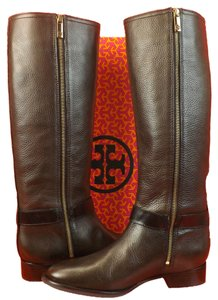 Preload https://item1.tradesy.com/images/tory-burch-coconut-leather-elina-gold-reva-tall-riding-belted-bootsbooties-size-us-95-regular-m-b-4255555-0-0.jpg?width=440&height=440